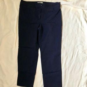 Talbots navy cropped pants